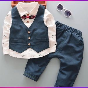 Baby toddler boy 3 piece outfit